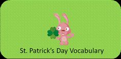 St. Patrick's Day Vocabulary Flash Cards- pinned by @PediaStaff – Please Visit  ht.ly/63sNt for all our pediatric therapy pins