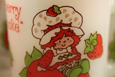 Strawberry Shortcake 4 Coffee Cups Ovenproof USA by theartlyons, $28.00