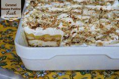 caramelized bananas, caramel banana pudding lush