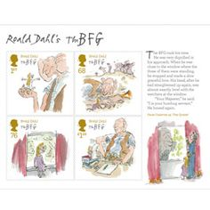 Roald Dahl/Quentin Blake stamps!