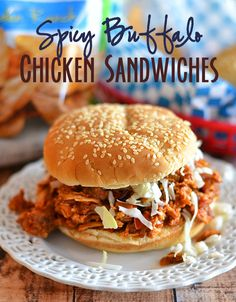 Spicy Buffalo Chicken Sandwiches on MyRecipeMagic.com