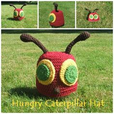crochet hat patterns, crochet hats, caterpillar crochet, crochet corner, hungry caterpillar, anni crochet, hungri caterpillar