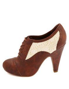 Crochet Spectator Oxford Heels: Charlotte Russe... LOVE!