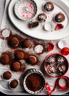 Dark Chocolate Peppermint Oreo Cookie Balls