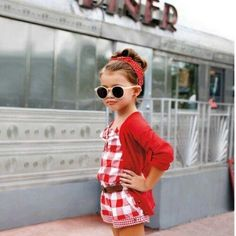 Nugget Style: Little Ladies & Divas in Training #red #kid #clothes #retro