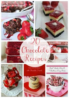 20 delicious chocolate recipes featured on iheartnaptime.net