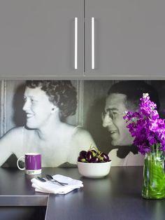 Kitchen Mural Backsplash! Have a favorite photo printed onto commercial-grade billboard vinyl.