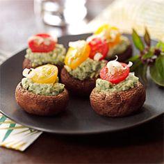 Stuffed Asiago-Basil Mushrooms