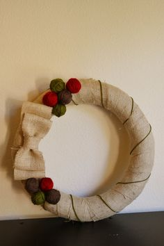 burlap wreath! $30