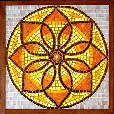 golden mandala mosaic