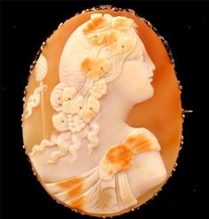 RARE Antique 14k Gold Cameo Brooch Carved Shell RARE 1870 Stunning Estate Pin | eBay