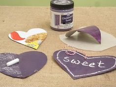 cereal boxes + chalkboard paint = cute tags!