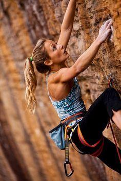 love rock climbing