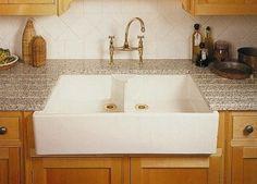Double Bowl Ceramic Farm Sink For Kitchens