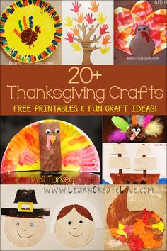 Thanksgiving Crafts Round-Up | LearnCreateLove.com