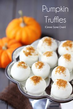 Autumn Equinox:  #Pumpkin #Cream #Cheese #Truffles, for the #Autumn #Equinox.