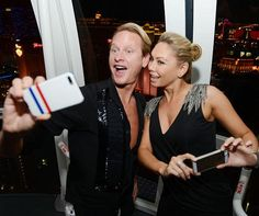 Pro dancer Kym Johnson and fashion expert Carson Kressley rode The High Roller at The LINQ on August 17, 2014 in Las Vegas (Photo credit: Denise Truscello / WireImage / www.DeniseTruscello.net).