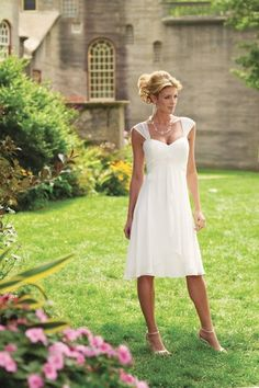 knee-length wedding dress