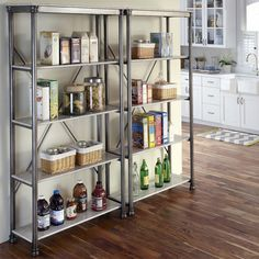 239.      Four-shelf metal etagere with a marble-finished top and x-crossed back.  Product: EtagereConstruction Material: P...