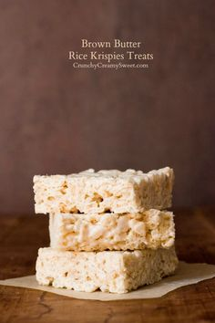 Brown Butter Rice Krispies Treats - one little change and you will never go back!