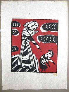 Casting out of a Devil    Artist:Sadao Watanabe    1968  http://www.japaneseprintart.com/art.cfm?rec_id=3734
