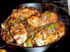 chicken breasts in mushroom sauce