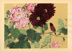 Chrysanthemum | Tattoo Ideas & Inspiration - Japanese Art| Rakuzan (Rakusan), ca.1930 | #Japanese #Art #Chrysanthemum #Flowers