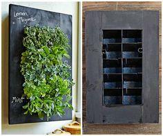 chalkboard herb wall planter