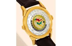 Patek Philippe Model 2523 Heures Universelles Watch. Price: $2,899,373.00 sold at watch auctioneer  Antiquorum in 2002.