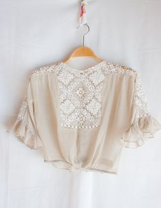 note: Antique Edwardian Sheer Blouse