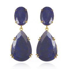 lapis drop earrings by bounkit