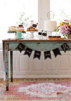 Garden chic dessert table