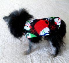 Minky Fleece Small Dog's Coat Custom to by BloomingtailsDogDuds