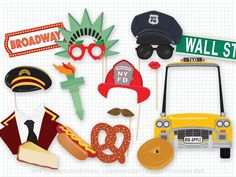 New York Photo Booth Props, Photobooth Prop, New York City, Bat Mitzvah, Bar Mitzvah, Big Apple, Bro