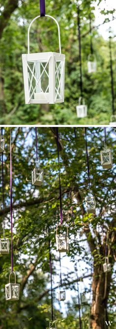 Lead your guests easily and beautifully from your ceremony to your reception with a Mini Lantern bedecked path! http://www.weddingstar.com/product/mini-lanterns-with-hanger