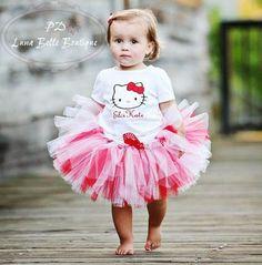 Boutique Hello Kitty Tutu Outfit|Hello Kitty Birthday Tutus|Hello Kitty Costume|Personalized Character Tutu|Boutique Hello Kitty