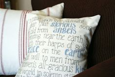 DIY Christmas Carol Pillow