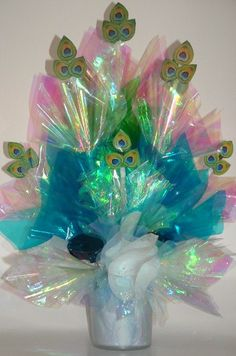 PEACOCK Centerpiece  An Elegant Bouquet for a by CandyFlorist, $19.95