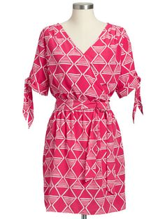 A geometric print dress that can go from day at the beach to night on the town.