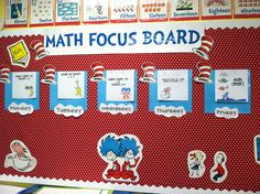Dr. Seuss math focus wall