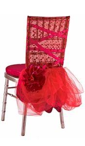 NEW! Bella Fuchsia Chivari Chair Sleeve