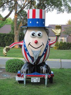 Uncle Sam Mr. Potato Head in Bristol, RI       #VisitRhodeIsland