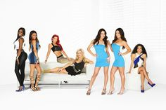 Favorite Show (total divas) (from right- Jojo, the Bella Twins, Natalya, Eva Marie, Arianne, Trinity.