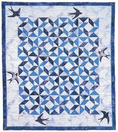 """Windblown Swallows"" by Jean Van Bockel, from Meadowbrook Quilts"