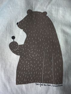 Sweet-tooth Bear with Lollypop t-shirt.   Z lesa