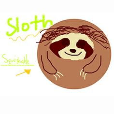 Sloth fan art by Jessica V.! #squishable #fanart #sloth