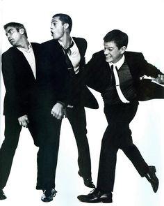Clooney, Pitt, and Damon