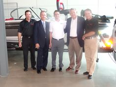 In black, Mark Breiner and Pat Meehan from Dream Giveaways, Robert Preston Jr. from World Cause Foundation ( in white) and Retired U.S. Marine Corps Brigadier General W. T. Adams.