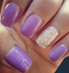 party-ready lavender nail art