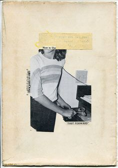 #47 - 2011. collage on found cardboard.